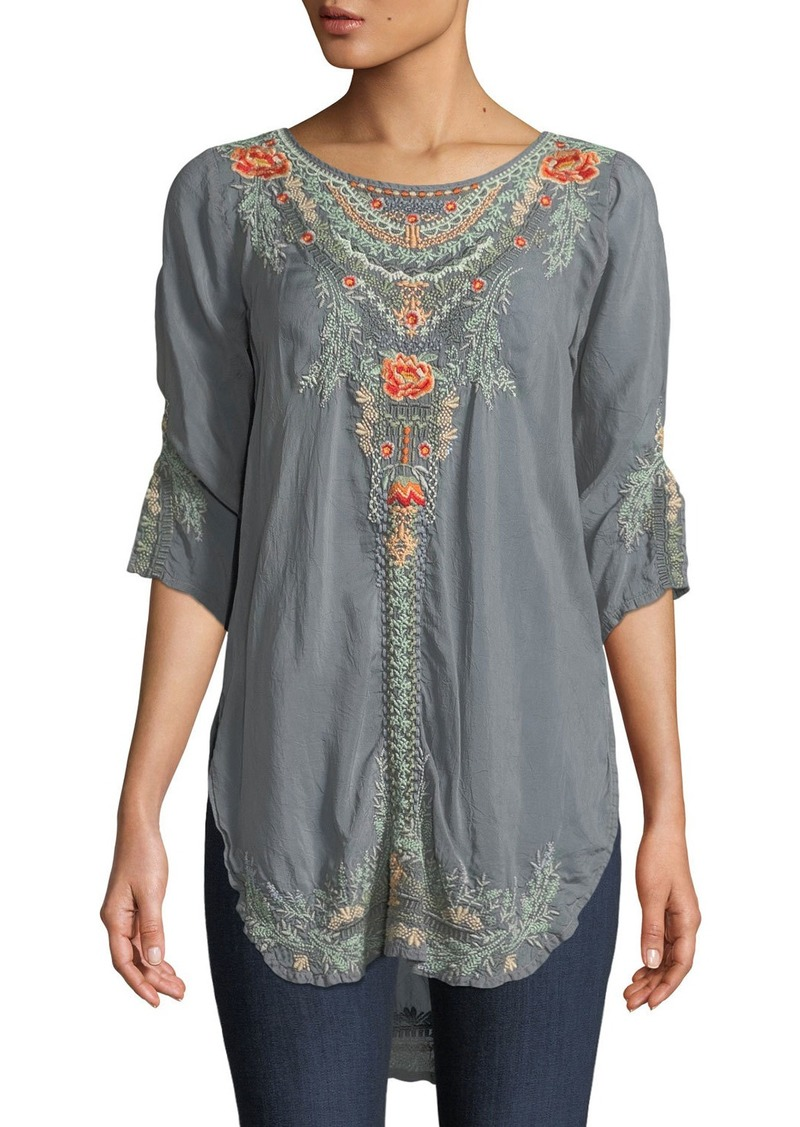 1ffdef26d21 SALE! Johnny Was Olive Blossom Embroidered Easy Tunic