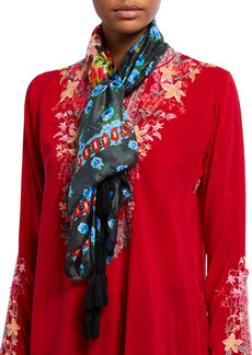 Johnny Was Oneal Floral Silk Scarf