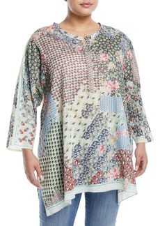 Johnny Was Pavo 3/4-Sleeve Tunic