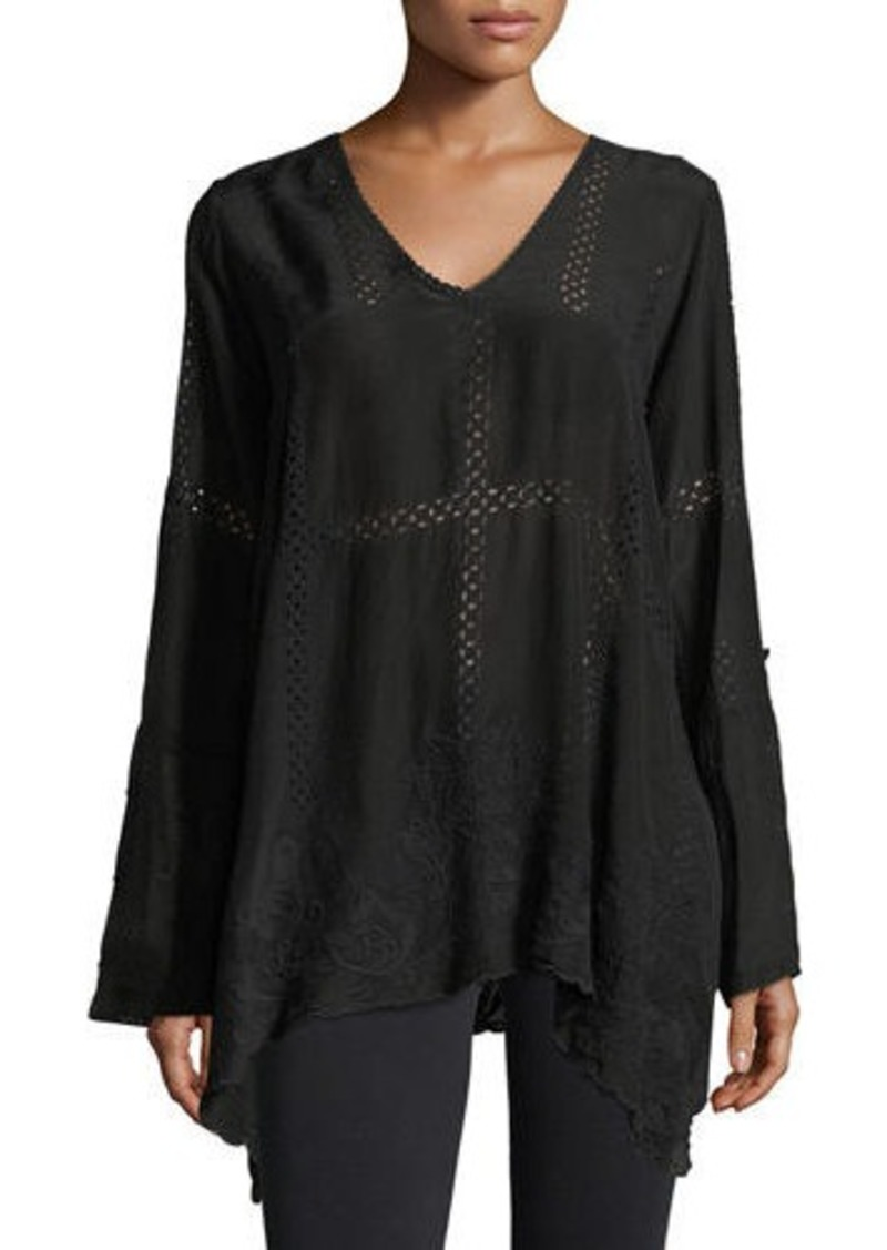 Johnny Was Petite Cage Flare Long-Sleeve Tunic