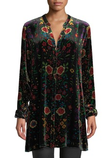 Johnny Was Petite Easy Embroidered Velvet Tunic