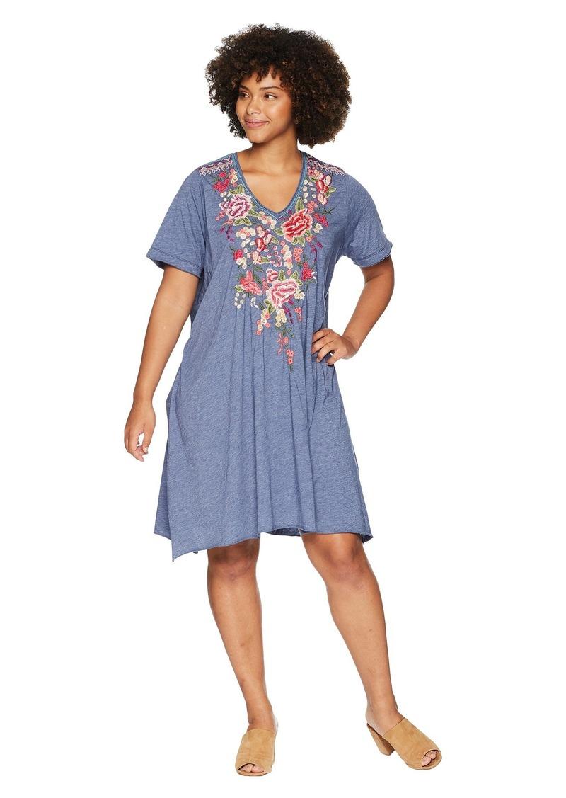 Plus Size Adeline Draped Tunic Dress
