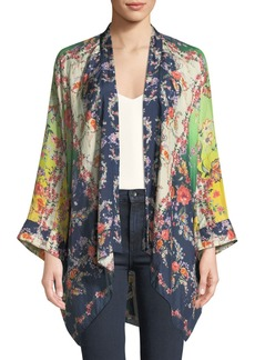58a4b1de535 Johnny Was Plus Size Dolce Long-Sleeve Floral-Print Georgette Kimono