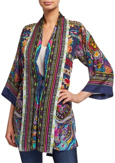 Johnny Was Plus Size Hanna Printed Tie-Front Kimono