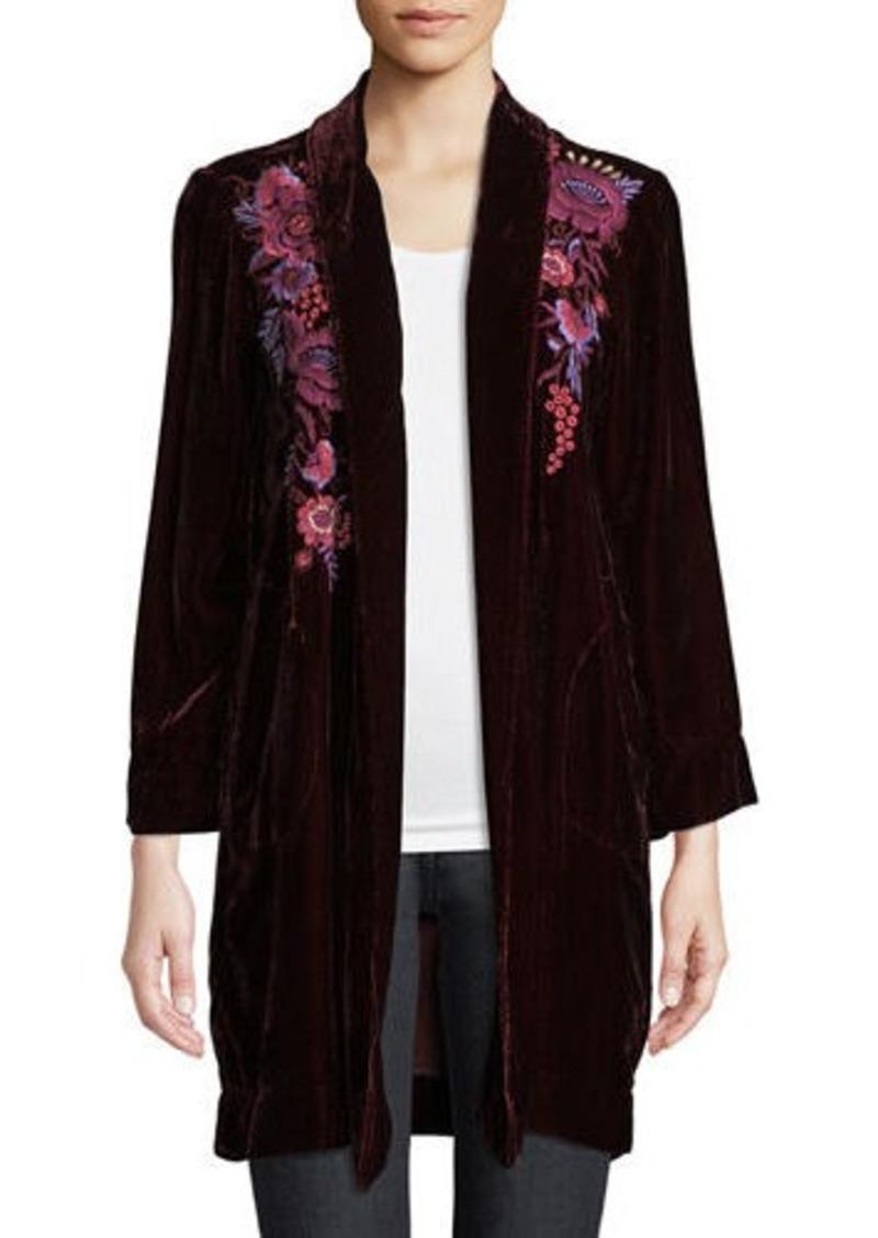 f47b360f5ba Johnny Was Plus Size Marcella Velvet Long Jacket
