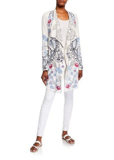 Johnny Was Plus Size Nohan Embroidered Wrap Jacket