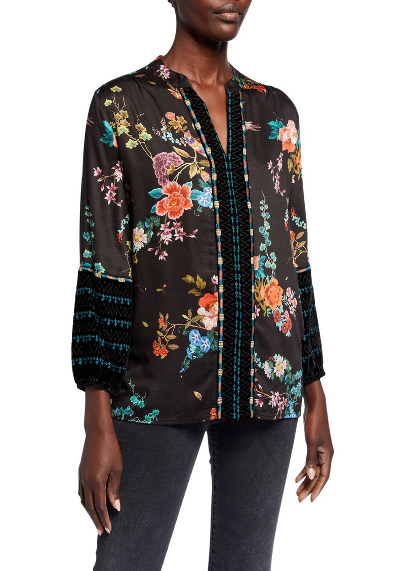 Johnny Was Plus Size Printed Paris Effortless Blouse