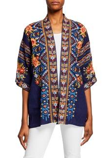 f3069964841 Johnny Was Plus Size Sentrie Embroidered Linen Kimono Jacket