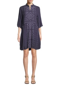Johnny Was Rosalie Embroidered Georgette Dress