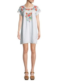 Johnny Was Samira Linen Peasant Tunic Dress