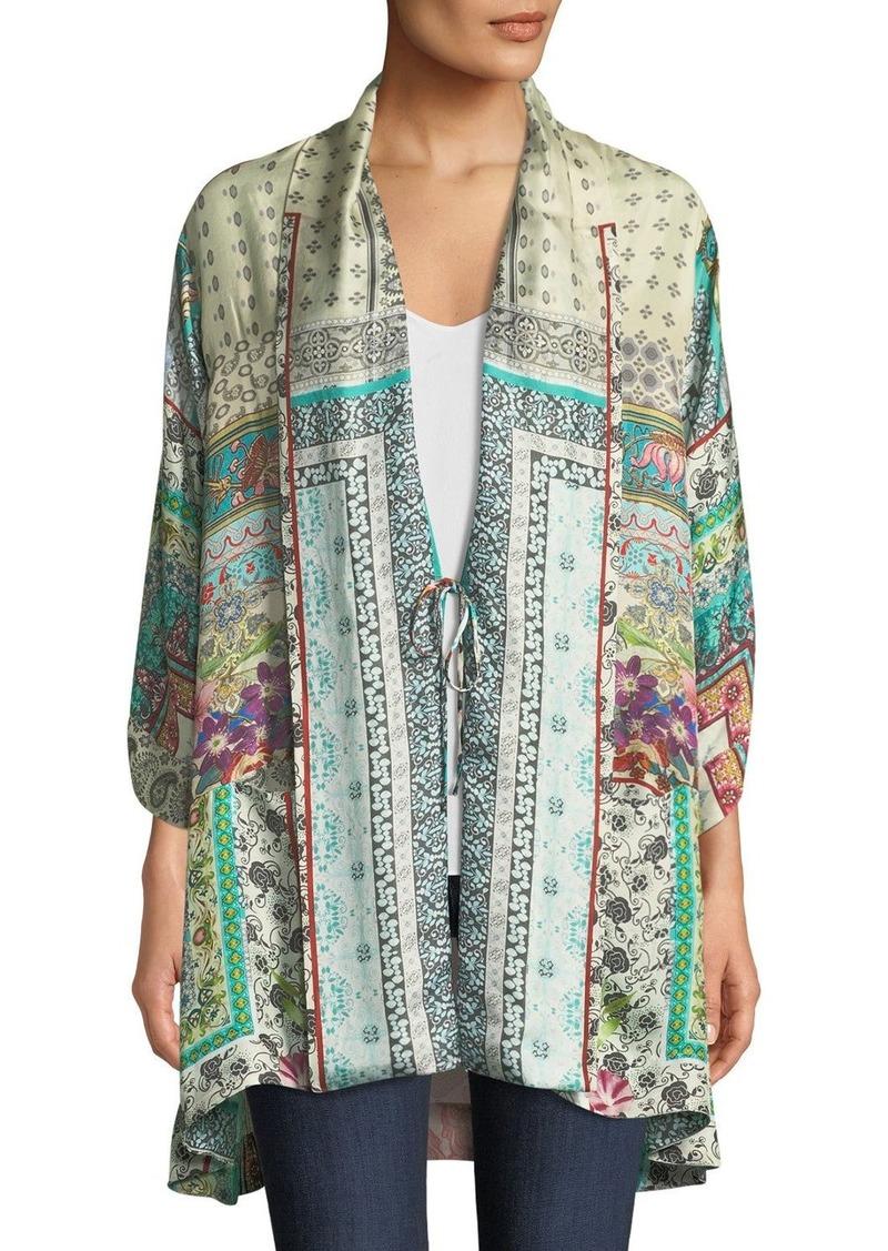 3ed1dd2e280 Johnny Was Plus Size Samira Long Silk Kimono Jacket | Outerwear