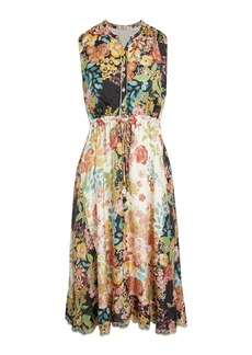 Johnny Was Serena Floral Print Sleeveless Lined Dress