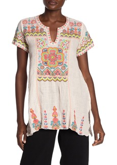 Johnny Was Tamia Embroidered Boho Top