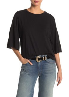Johnny Was Tiered 3/4 Sleeve Knit Top