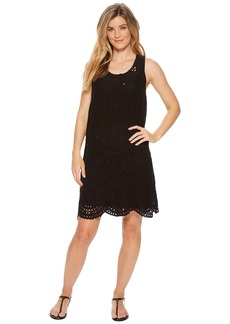Johnny Was Tiered Eyelet Tank Dress w/ Slip