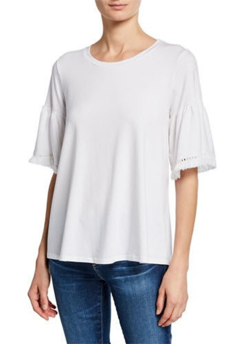Johnny Was Trimmed-Sleeve Swing Tee