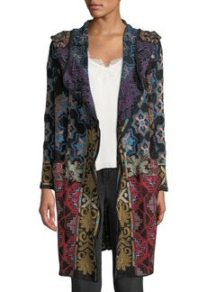 Johnny Was Tulum Hooded Duster with Embroidery