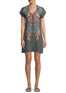 Johnny Was Vernazza Embroidered Tunic Dress