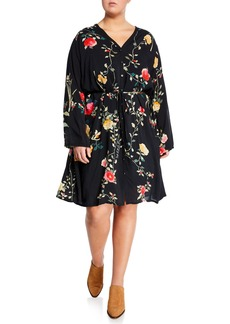 Johnny Was Winter Ume Button-Down Floral Dress