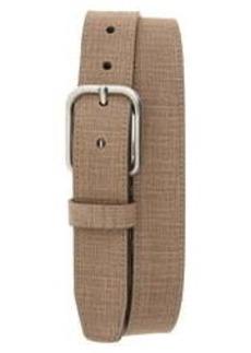 Men's Johnston & Murphy Crosshatch Leather Belt