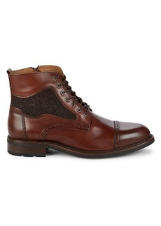 Johnston & Murphy Fullerton Leather Ankle Boots