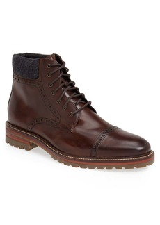 Johnston & Murphy J&M 1850 'Karnes' Brogue Cap Toe Boot (Men)