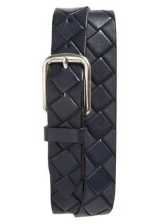 Johnston & Murphy Basketweave Leather Belt