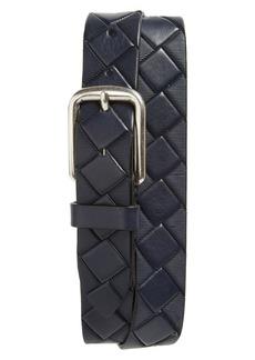 Johnston & Murphy Basketweave Leather Belt