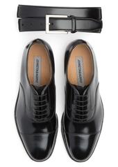 Johnston & Murphy Belt & Oxford Shoe