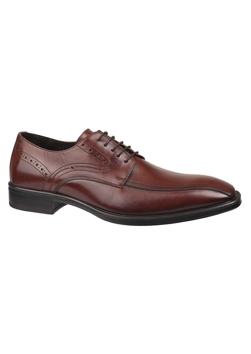 JOHNSTON & MURPHY Birchett Leather Run-Off Oxfords
