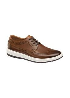 Johnston & Murphy Elliston Embossed Wingtip Leather Sneakers