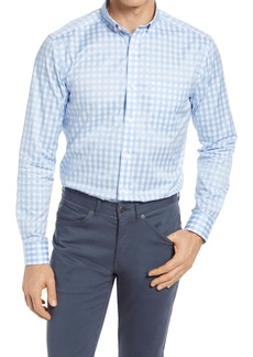 Johnston & Murphy Gingham Cotton Twill Button-Down Shirt
