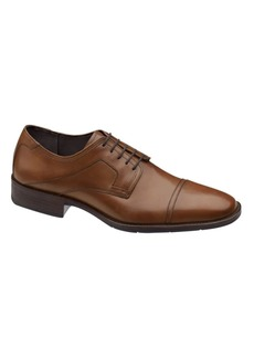 Johnston & Murphy Larsey Capped-Toe Leather Oxfords