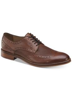 Johnston & Murphy Men's Conard Embossed Wingtip Bluchers Men's Shoes