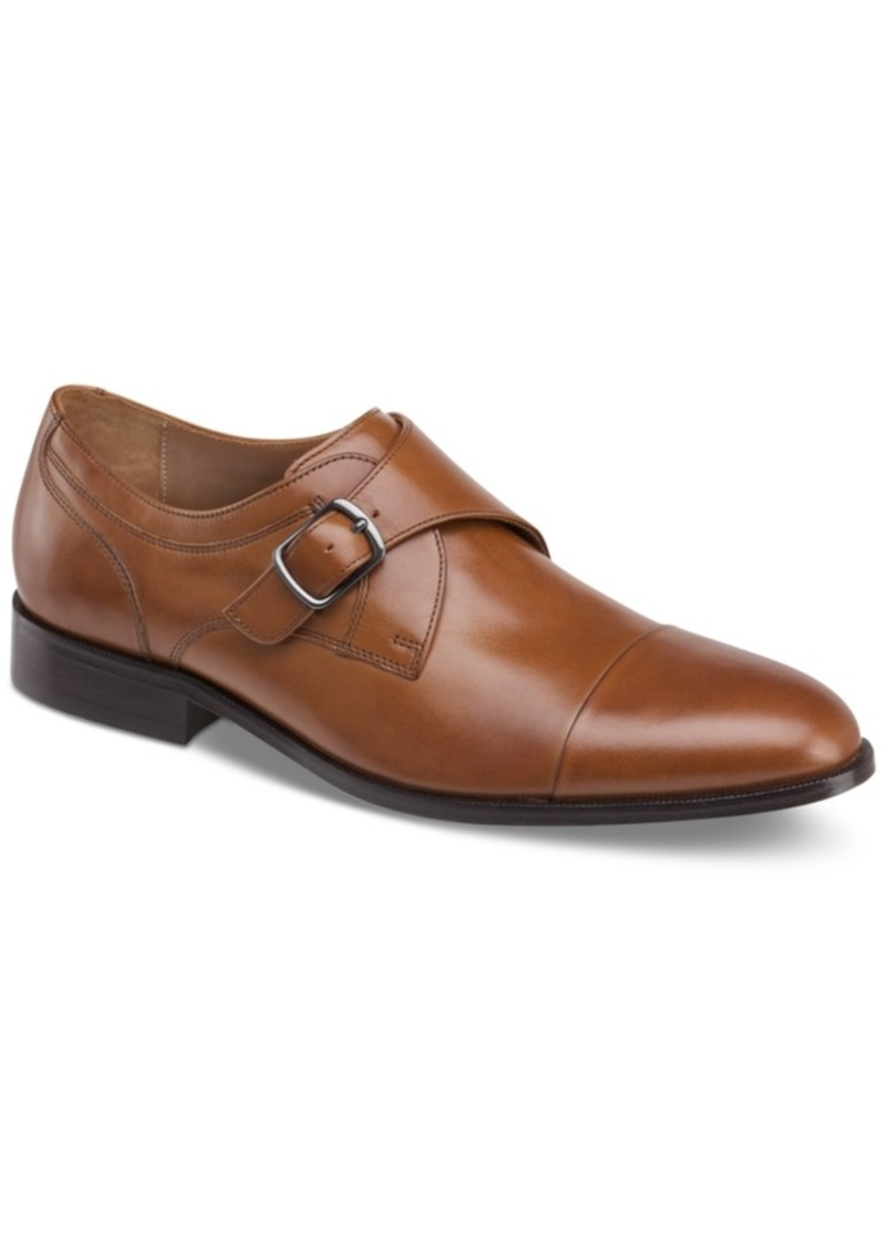 Johnston & Murphy Men's Hernden Single Monk Cap-Toe Loafers Men's Shoes