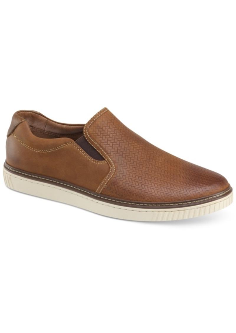 Johnston & Murphy Men's Walden Embossed Slip-On Sneakers Men's Shoes