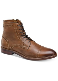 Johnston & Murphy Men's Warner Cap-Toe Zip Boots Men's Shoes