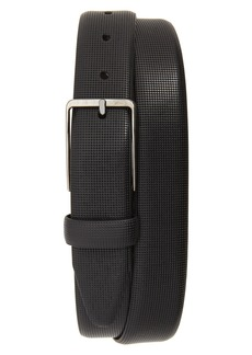 Johnston & Murphy Mini Embossed Leather Belt