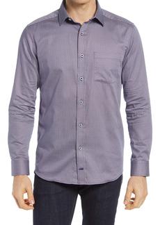 Johnston & Murphy Neat Sails Print Button-Up Shirt
