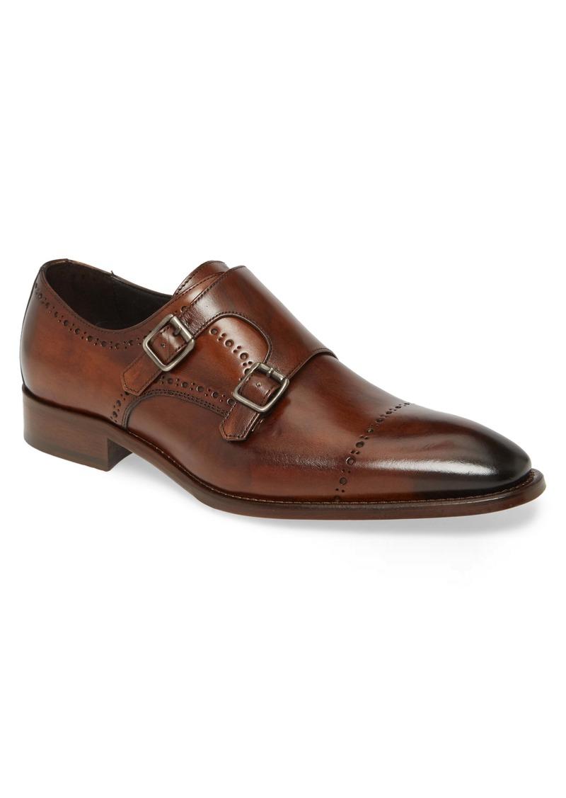 Johnston & Murphy Reece Cap Toe Double Monk Strap Shoe (Men)