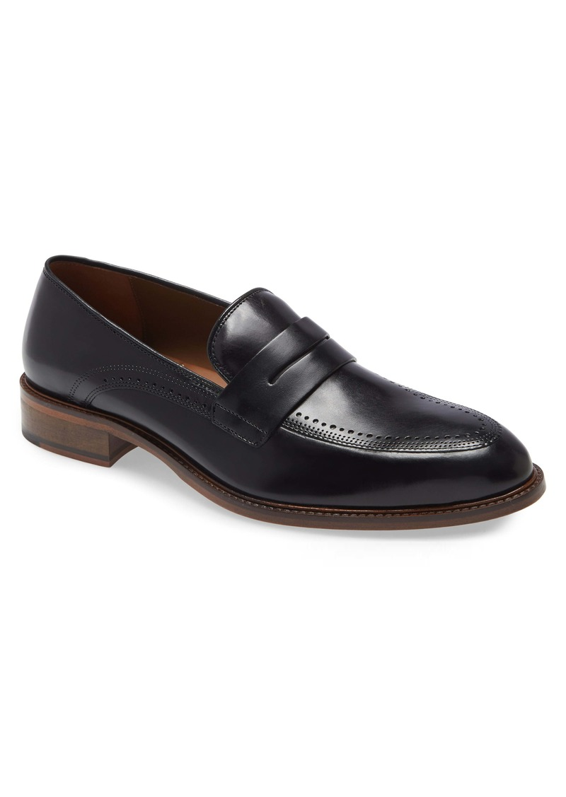 Johnston & Murphy Sayer Brogued Penny Loafer (Men)