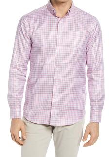 Johnston & Murphy Textured Check Print Button-Up Shirt