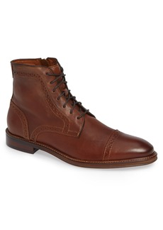 Johnston & Murphy Warner Cap Toe Boot (Men)