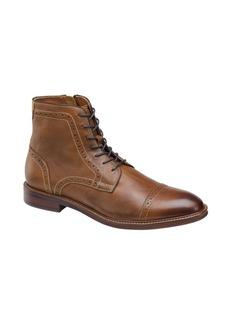Johnston & Murphy Warner Leather Cap-Toe Zip Boots