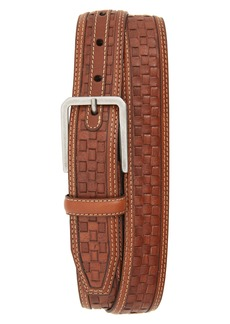 Johnston & Murphy Woven Leather Belt