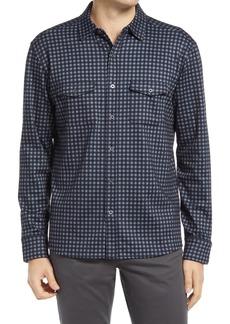 Men's Johnston & Murphy Check Knit Button-Up Shirt