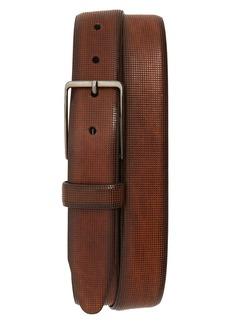 Men's Johnston & Murphy Mini Embossed Leather Belt