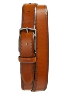 Men's Johnston & Murphy Perforated Leather Belt