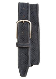Men's Johnston & Murphy Perforated Suede Belt