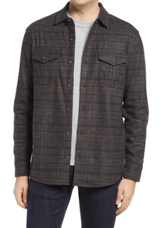Men's Johnston & Murphy Plaid Knit Shirt Jacket